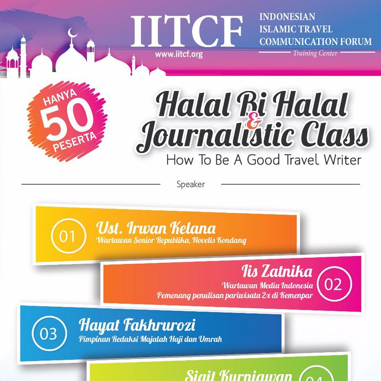 halal bihalal iitcf dan jurnalistik
